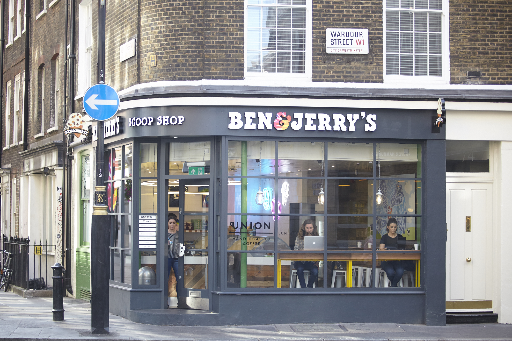 Ben and Jerry also made it a point to connect with the community, hosting a free film festival and giving away free scoops on the first anniversary of the store, a tradition that still continues. In , the duo began making pints to sell to local grocers.